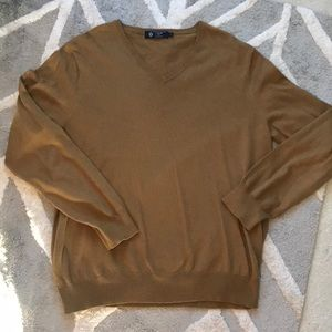 J Crew Cotton/Cashmere V-Neck Sweater